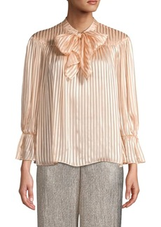 Alice + Olivia Striped Tie Top