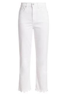 Alice + Olivia Stunning High-Rise Scallop Cropped Skinny Jeans