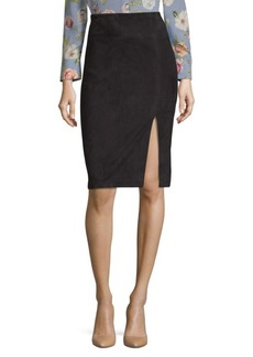 Alice + Olivia Tani Suede Pencil Skirt