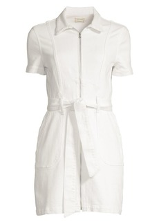 Alice + Olivia Sugar Zip Front Shirtdress