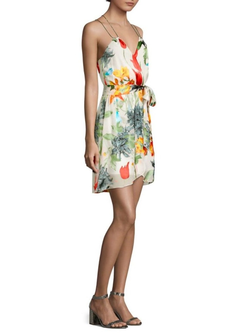 Alice + Olivia Susana Faux Wrap Dress
