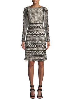 Alice + Olivia Tabitha Embellished Fitted Dress
