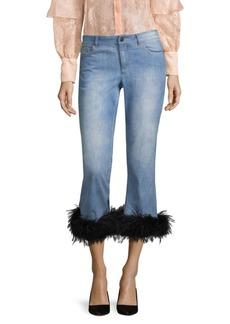 Tasha Cropped Feather Hem Jeans