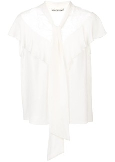 Alice + Olivia Terry tie neck blouse