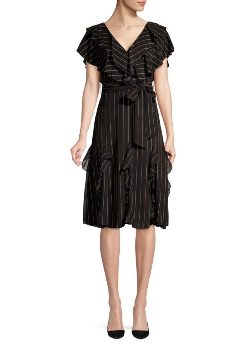 Alice + Olivia Tessa Ruffle A-Line Dress