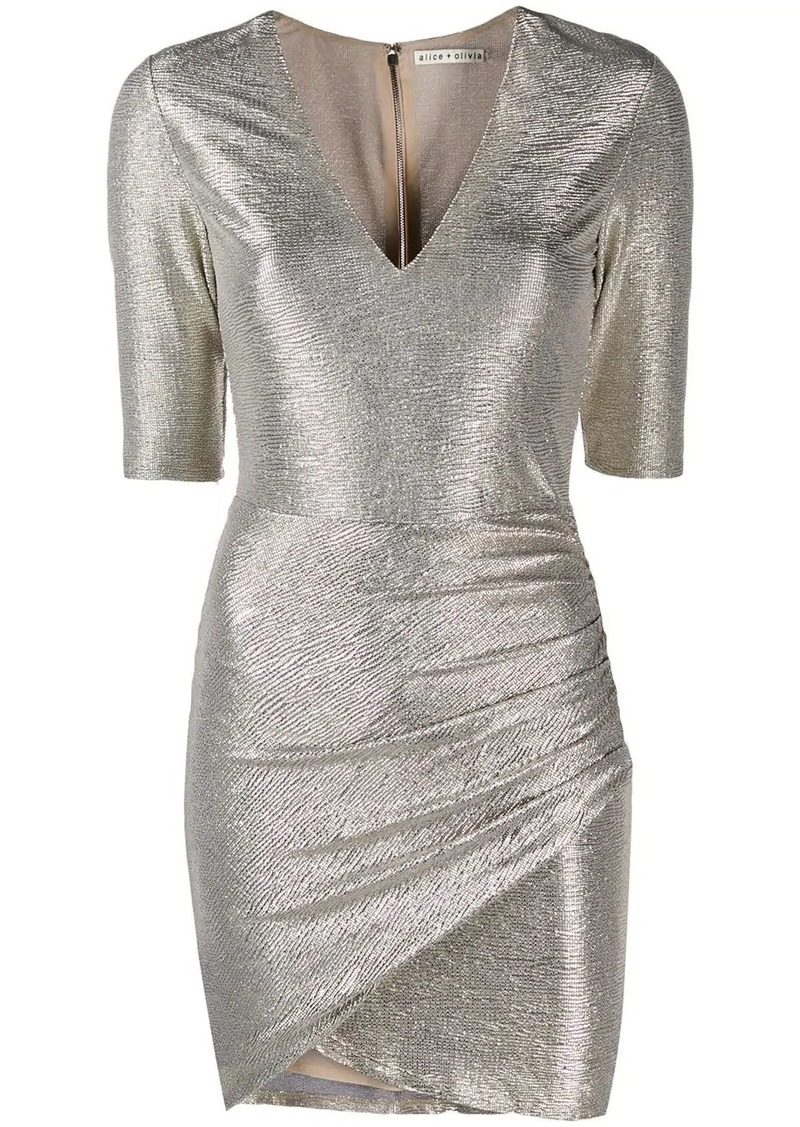 Alice + Olivia textured metallic dress