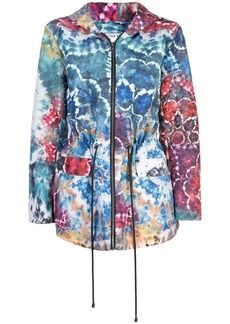 Alice + Olivia tie dye print rain jacket