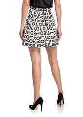 Alice + Olivia Tilda Curved-Waistband Lantern Skirt