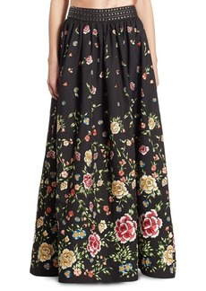 Alice + Olivia Tina Studded Embroidered Ball Skirt