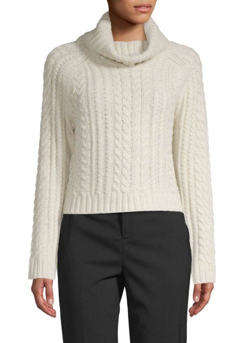 Alice + Olivia Tobin Cable-Knit Sweater
