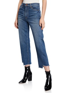 Alice + Olivia Twisted Seam Step-Hem Cropped Jeans