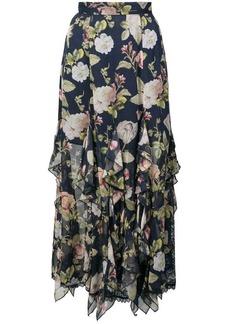 Alice + Olivia Uma ruffle floral print skirt