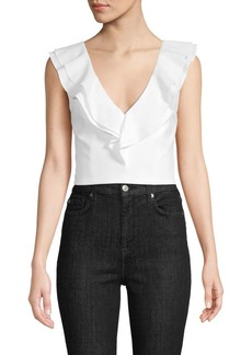 Alice + Olivia V-Neck Cropped Top