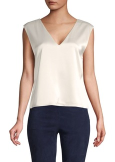 Alice + Olivia V-Neck Tie Top