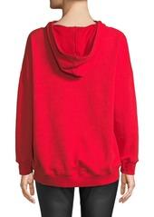 Alice + Olivia Vernie LOVE Embellished Pullover Hoodie