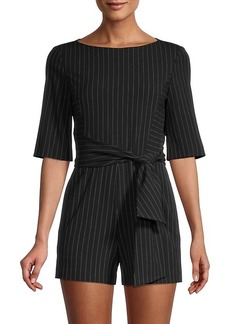 Alice + Olivia Virgil Pinstriped Romper