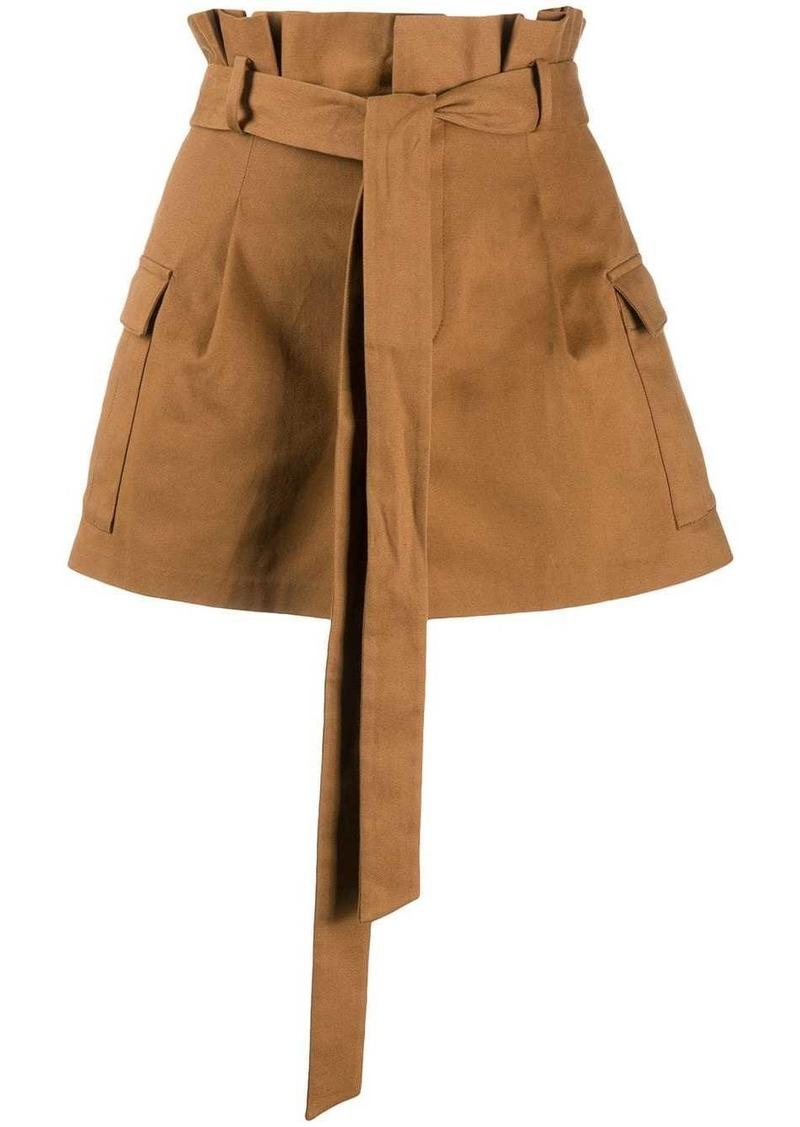 Alice + Olivia waist-tied mini skirt