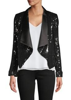 Alice + Olivia Warren Embellished Open-Front Jacket
