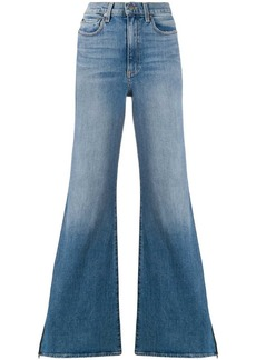 Alice + Olivia wide leg side-zip jeans