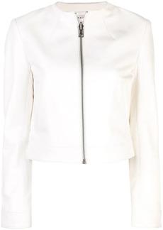 Alice + Olivia Yardley cropped leather jacket