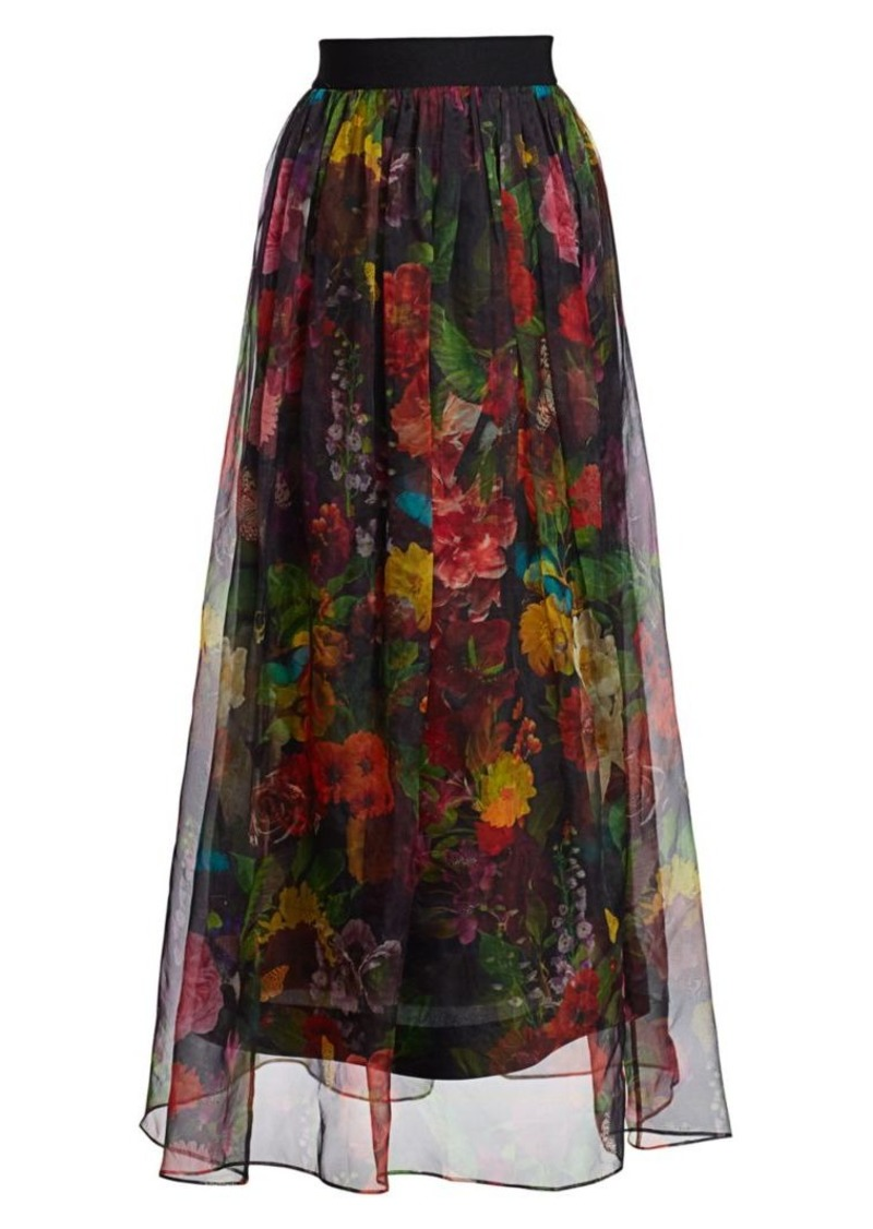Alice + Olivia Yvonne Floral Maxi Skirt