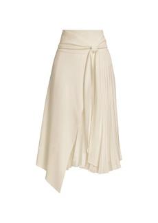 Alice + Olivia Zabana Asymmetrical Midi Skirt