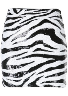 Alice + Olivia zebra print sequin skirt