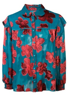 Alice + Olivia Ziggy floral print blouse