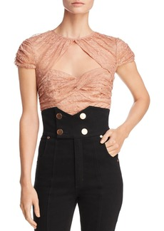Alice McCall Sweetly Lace Crop Top