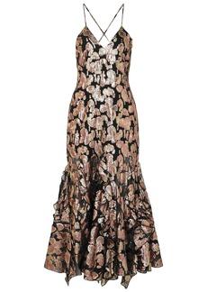Alice Mccall Woman Best Of You Metallic Silk-blend Jacquard Midi Dress Rose Gold