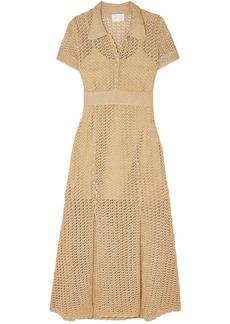 Alice Mccall Woman Bijou Bijou Metallic Crochet-knit Midi Dress Gold