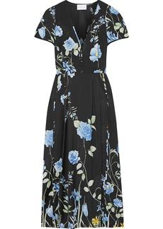 Alice Mccall Woman Flower Girl Floral-print Crepe De Chine Midi Dress Black