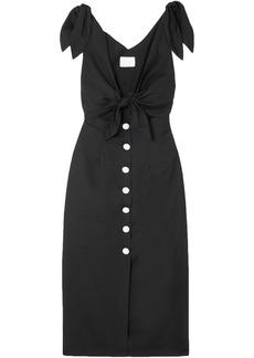Alice Mccall Woman Nara Knotted Cutout Poplin Midi Dress Black