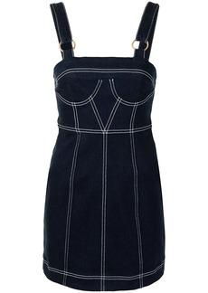 Alice McCall contrast stitching denim minidress