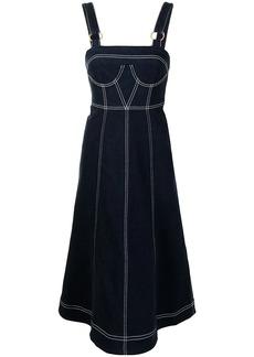 Alice McCall contrast stitching flared denim dress