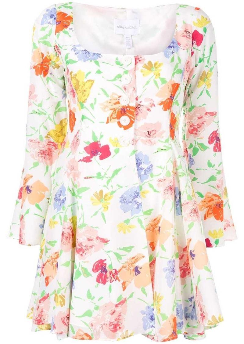 Alice McCall floral Picasso mini dress