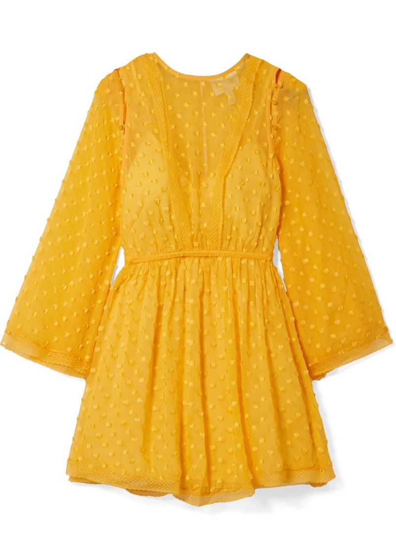 Alice McCall Gidget Lace-trimmed Fil Coupé Silk-blend Chiffon Mini Dress