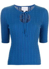 Alice McCall Heaven cable knit top