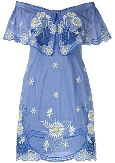 Alice McCall Honeycomb Daisy off shoulder mini dress