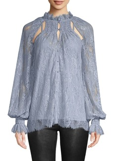 Alice McCall Lace Cutout Peasant Blouse