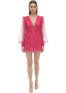 Alice McCall Lace Mini Dress W/puff Sleeves