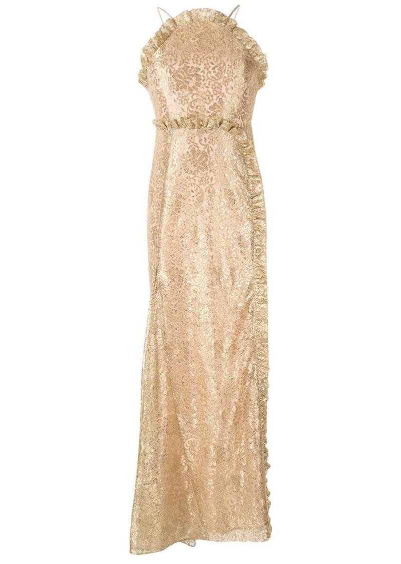 Alice McCall lace print ruffle dress