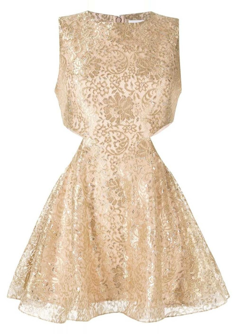 Alice McCall metallic floral lace dress