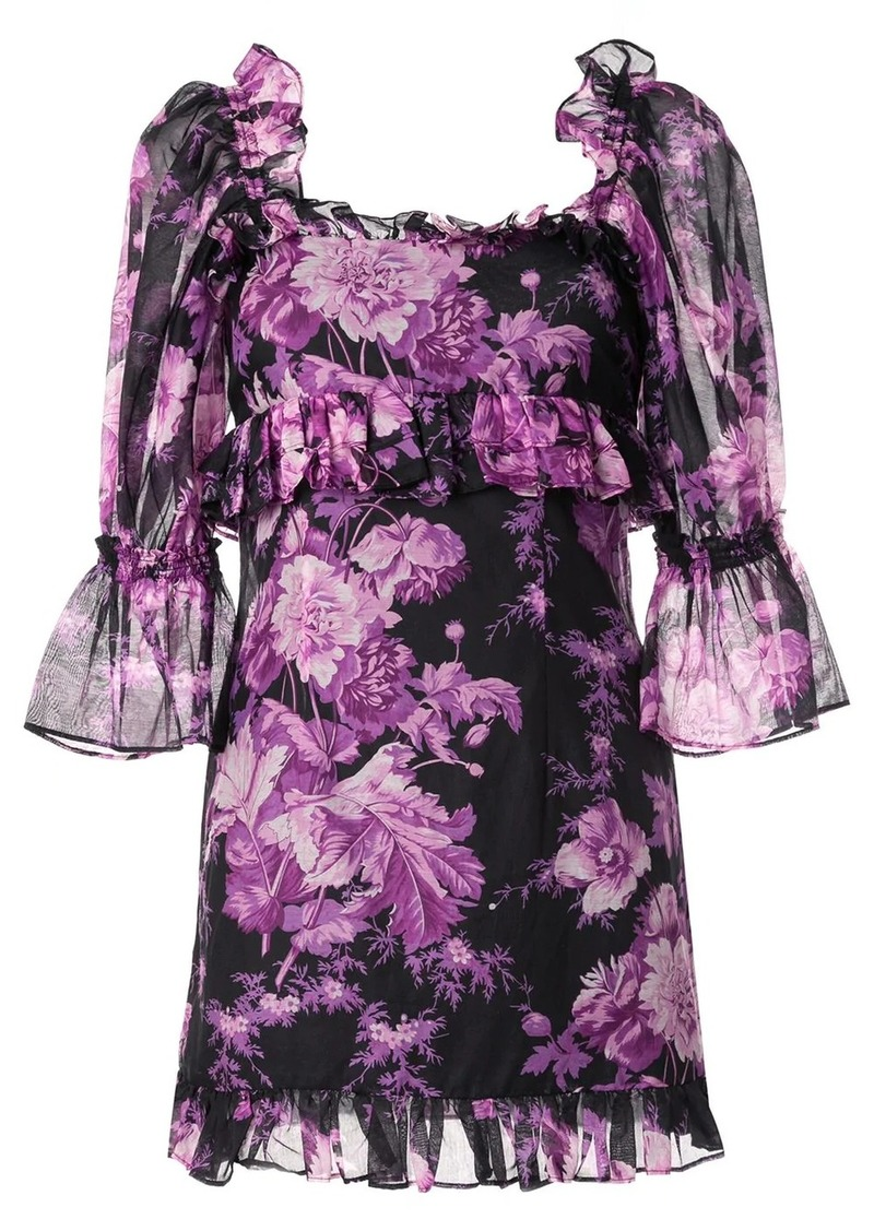 Alice McCall Pink Flamingo ruffled mini dress