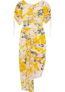 Alice McCall Soiree Cutout Floral-print Silk-crepe Dress