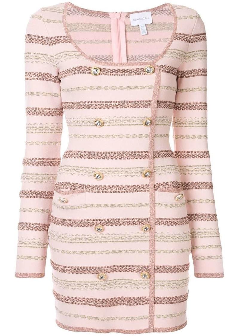 Alice McCall striped double-breasted mini dress