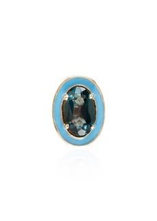 Alison Lou 14kt yellow gold T stud earring
