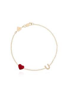 Alison Lou Love U 14kt gold and diamond bracelet