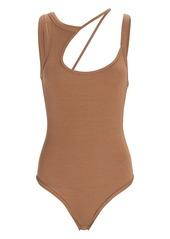 ALIX NYC Allen Asymmetrical Rib Knit Bodysuit