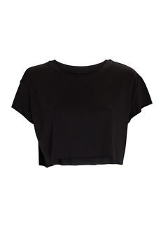 All Access Cropped Raw Edge T-Shirt